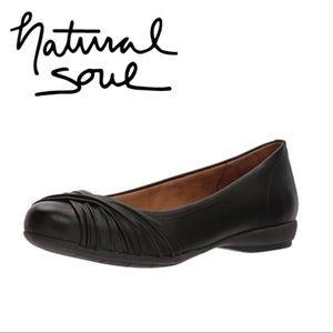 Natural Soul Women's Black Girly Ballet Flat